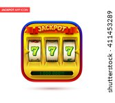 gold slot machine icon. eps10...