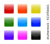 set of square web buttons | Shutterstock .eps vector #411456661
