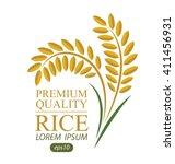 rice. vector illustration. | Shutterstock .eps vector #411456931