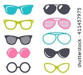 colorful cartoon retro... | Shutterstock .eps vector #411457975