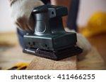 close up of craftsman hand... | Shutterstock . vector #411466255