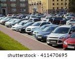 car park in the city center. a... | Shutterstock . vector #411470695
