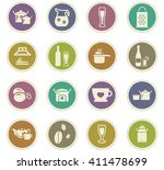 food and kitchen symbol for web ... | Shutterstock .eps vector #411478699