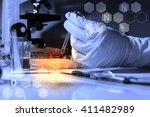 equipment and experiments about ... | Shutterstock . vector #411482989