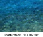 vector blue geometric... | Shutterstock .eps vector #411489709