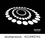 white abstract halftone logo... | Shutterstock .eps vector #411490741