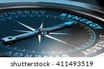3d illustration of a compass... | Shutterstock . vector #411493519