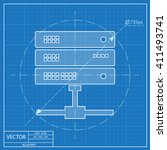 blueprint icon of computer...