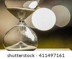 modern hourglass    sand... | Shutterstock . vector #411497161