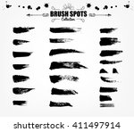 vector large set hand drawn... | Shutterstock .eps vector #411497914