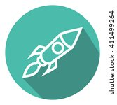 rocket launch background. flat... | Shutterstock .eps vector #411499264