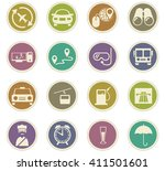 travel icon set for web sites... | Shutterstock .eps vector #411501601
