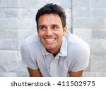 close up portrait of a handsome ... | Shutterstock . vector #411502975