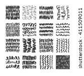hand drawn textures  template... | Shutterstock .eps vector #411509011