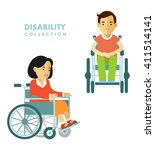 disability person concept.... | Shutterstock .eps vector #411514141