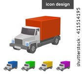 truck wagon icon | Shutterstock .eps vector #411514195