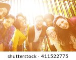 connection freedom togetherness ... | Shutterstock . vector #411522775