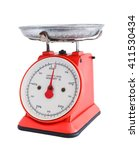 Red Bakery Scale Isolated On...