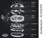 chalk painted illustration of... | Shutterstock .eps vector #411532591