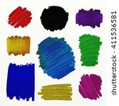 digital color blobs of paint... | Shutterstock . vector #411536581