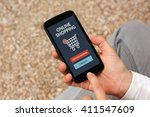 hands holding smart phone with