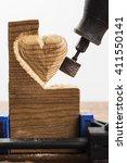 Sanding Wood In Heart Shape...