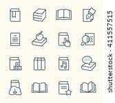 books line icons | Shutterstock .eps vector #411557515