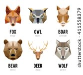 Low Polygon Animal Logos....