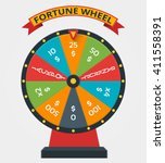 fortune wheel in flat style