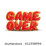 game over icon for game design. ...