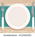 table setting for dinner.... | Shutterstock .eps vector #411565531