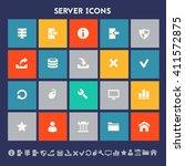 server icon set. multicolored...