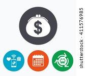 wallet dollar sign icon. cash... | Shutterstock . vector #411576985