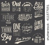 collection of vector text... | Shutterstock .eps vector #411577051