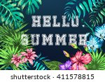vector illustration of summer... | Shutterstock .eps vector #411578815