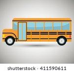 bus icon design  | Shutterstock .eps vector #411590611