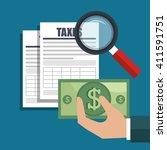 tax time design  | Shutterstock .eps vector #411591751