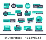 set of promotional badges and... | Shutterstock .eps vector #411595165