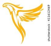 phoenix in flames | Shutterstock .eps vector #411612469