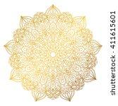 mandala pattern.arabic vintage... | Shutterstock .eps vector #411615601