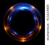 abstract ring background with... | Shutterstock . vector #411615805