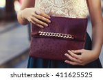 elegant outfit. closeup of... | Shutterstock . vector #411625525