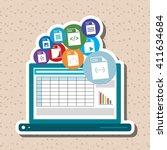 illustration of responsive web... | Shutterstock .eps vector #411634684