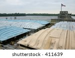 a barge on the upper... | Shutterstock . vector #411639