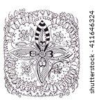 illustration hand drawn... | Shutterstock . vector #411646324