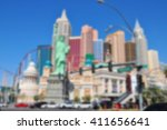 Stock photo blurred background of las vegas city nevada usa 411656641