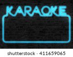 karaoke neon background | Shutterstock . vector #411659065