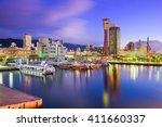 kobe japan skyline | Shutterstock . vector #411660337