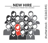 new hire button portraying... | Shutterstock .eps vector #411661441