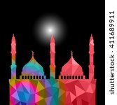 beautiful religious eid... | Shutterstock .eps vector #411689911